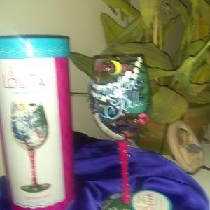 """Lolita """" Carolina Girl""""  wine glass"""